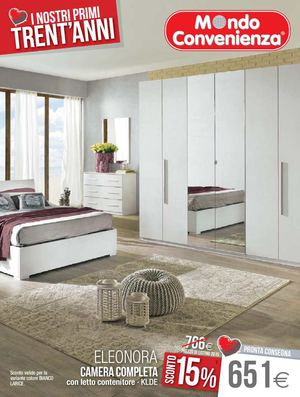 Calam o catalogo mondo convenienza camere 2015 for Letto sirio mondo convenienza